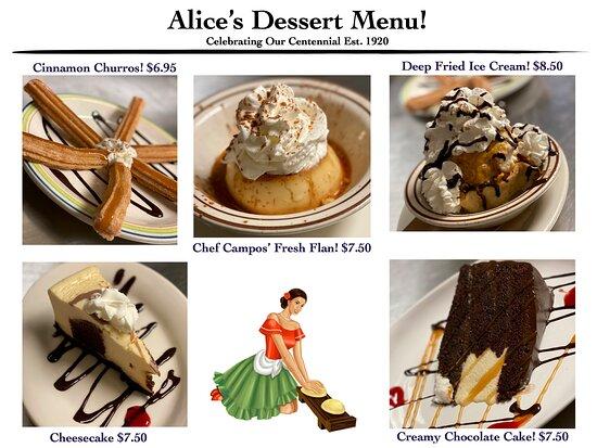 Alice Mijares Dessert Menu!