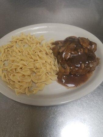 Salisbury Steak & Egg Noodles