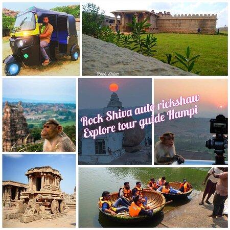 Hampi tour guide with auto rickshaw