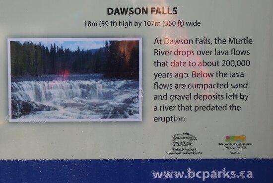 Dawson Falls - down stream, to get perfect view