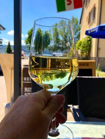 Und wieder ein gutes Glas Weißwein