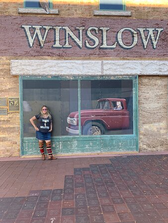 Standing on the corner in winslow
