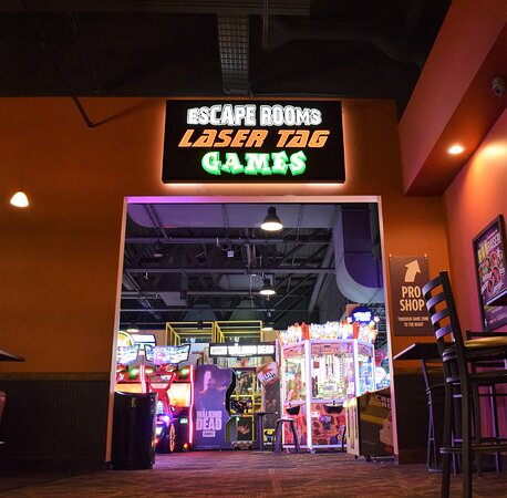 Escape rooms, laser tag, and games