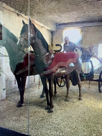 Latrun, Israel: A perfect full scale model recreation of the Egyptian chariots from the time of the Israelite Exodus 3350 years ago.
