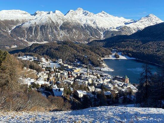 St. Moritz, Switzerland: Heidis Blumenweg im Winter
