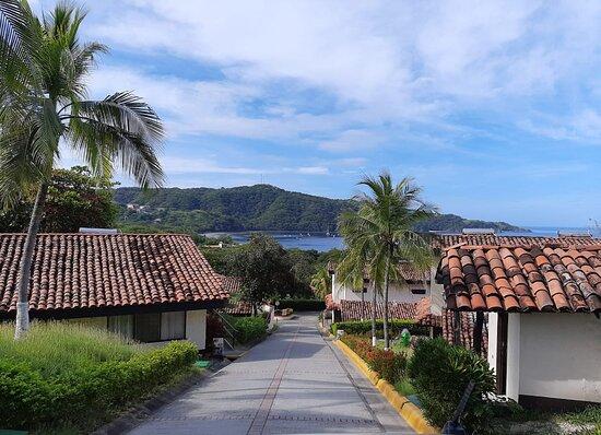 Vista de las villas