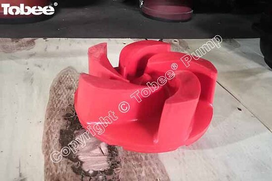 Κίνα: Tobee 2/1.5B AH horizontal pump polyurethane impeller B15127U38 can replace 2x1.5 metal slurry pump impeller Email: Sales7@tobeepump.com Web: www.tobeepump.com | www.slurrypumpsupply.com | www.tobee.cc | www.hydroman.cn