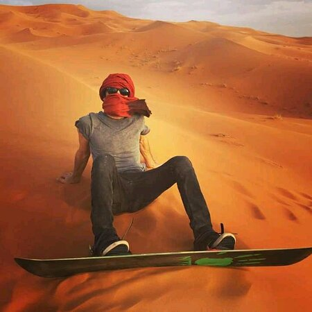 Sandboaring in Merzouga Desert with Carlos See Around Morocco guest !