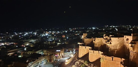 # Night view of city from fort ..