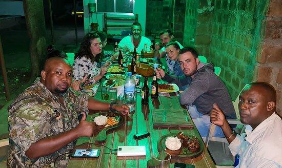 local  foods dinner time experience safari in Kilimanjaro cafe Tanzania