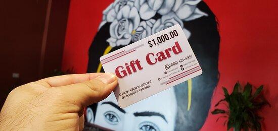 Cuentan con Gift Card de $500 y $1000 pesos que estan ideales para regalo