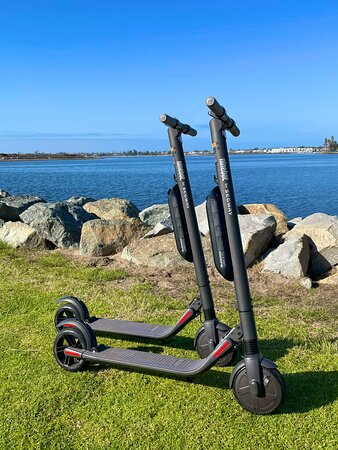 Segway Ninebot Electric Scooters now available for rent! 19mph top speed and a range of 25+ miles on a charge, these scooters are a blast!