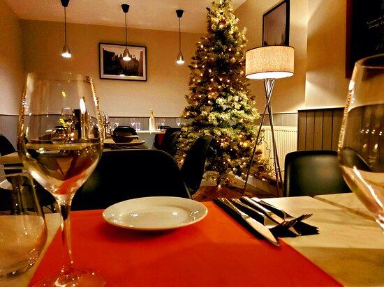 Woolpit, UK: Dining room set for December