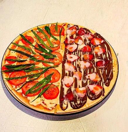 Pizza Margherita e Chocolate