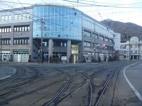 十字街電停の近く