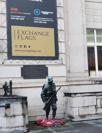 Exchange Flags City Square at bottom of Castle Street