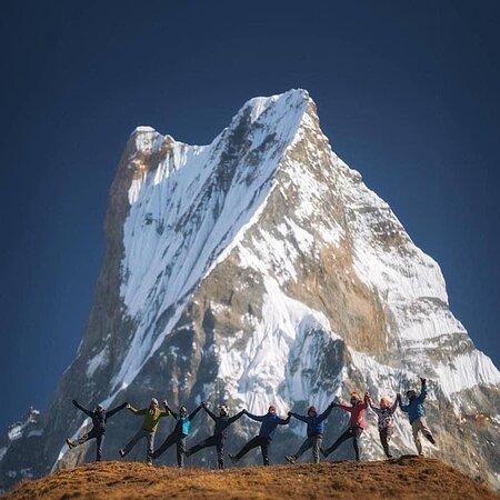 Patan Durbarsquare and Fishtail peak.