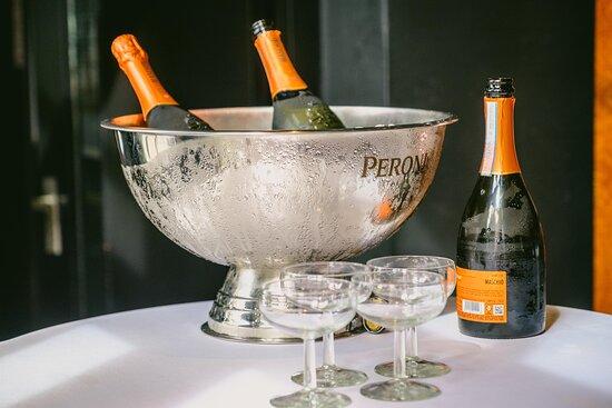 Heerlijke champagne.