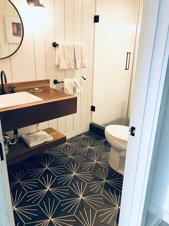 LOVE the Surfjack tile! Great pressure in the showers too, by the way!