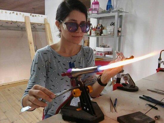 glass blowing workshop סדנת ניפוח זכוכית