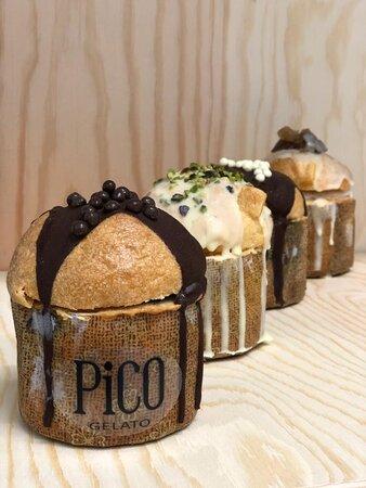 Prova i nostri nuovi panettoncini ripieni di gelato, in pieno stile pico: Naturalmente buoni.