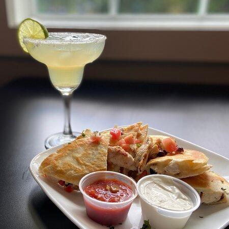 Chicken Quesadilla & House Margarita