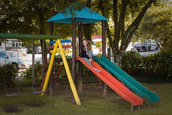 O playground é um dos lugares favoritos da criançada.