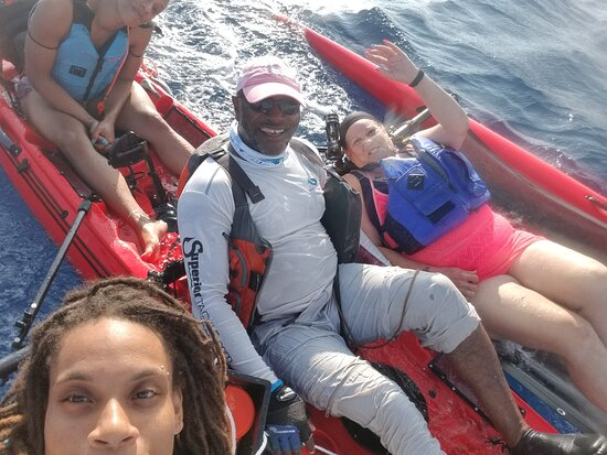 Frederiksted, St. Croix: Kayaking with friends makes great memories!