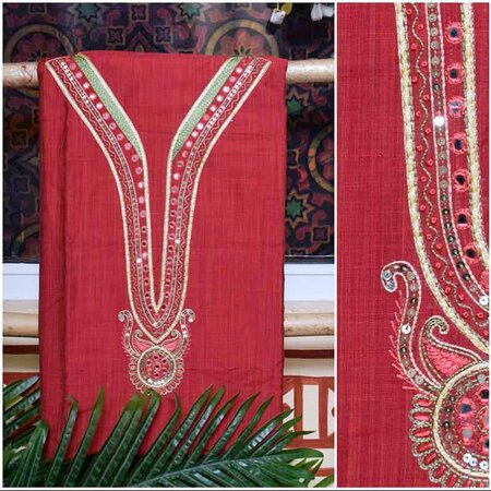 Indore, India: Buy our exclusive collection of handicraft unstitched kurti with traditional looks and attractive colors from ssethnics.com. We work in handmade and handicraft design of traditional fabric, suits, saree, dupattas. Here you will get the best quality dress material in different designs and colors at the low prices. To know more information, visit our website.