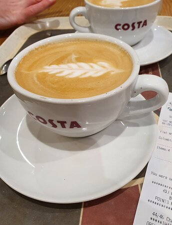 Costa Coffee in Kirkby Town Centre.