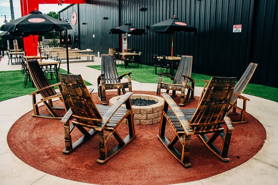 Barrel stave adirondack chairs
