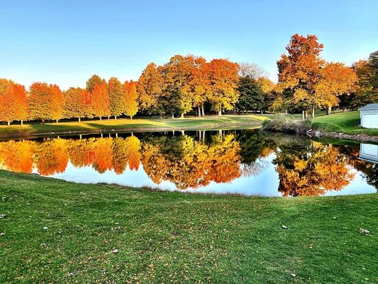 Webster, NY: Our golf club is not only beautiful during the summer but during the fall as well.