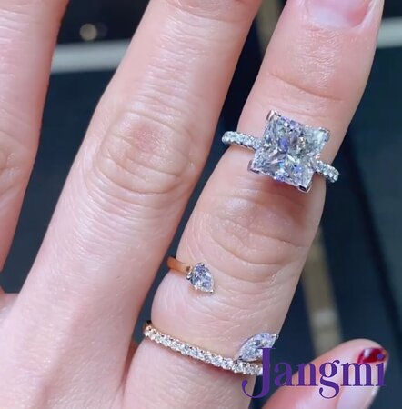 3ct princess cut on our love fancy with under halo in platinum