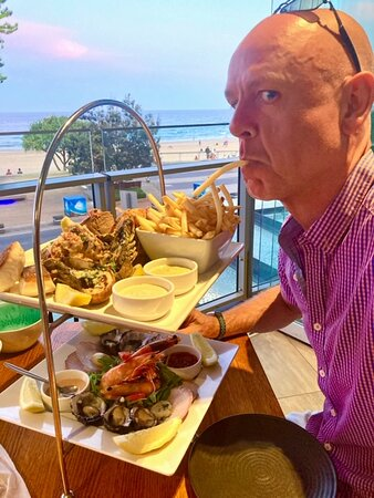 The mister, the seafood platter and that view
