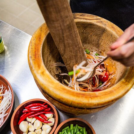 fresh thai salads - in the making :)