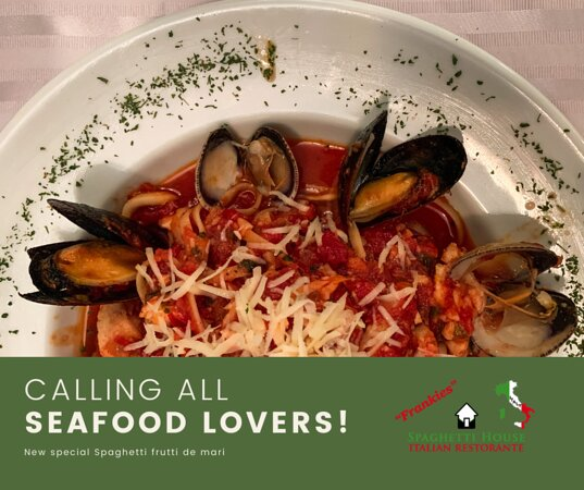 f you love seafood, you have to try our delicious Spaghetti Frutti di Mare. Sauteed mussels, shrimp, and squid on our amazing Spaghetti Pomodoro, topped with rich aged Parmesan cheese. Squisito! Come visit us at Venustiano Carranza 276, Old Town Puerto Vallarta, from 05:00 p.m. to 11:00 p.m. We are following all the COVID-19 health protocols. Get a 10% discount on your next visit by rating us on Tripadvisor, so that more people can taste the authentic Italian cuisine in Puerto Vallarta