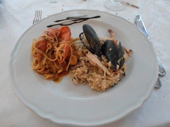 Serramanna, Italia: Spaghetto all'astice e risotto alla pescatore