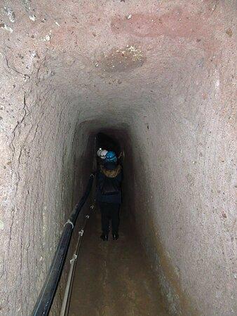 All'interno del cunicolo principale
