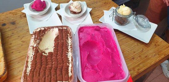 Homemade ice cream IL TUCANO