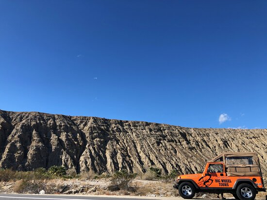 Our Big Orange Jeep along the San Andreas Fault