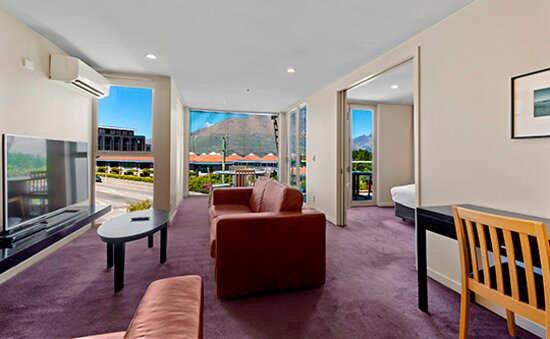 One or Two Bedroom Suite - Living Room with Mountain view