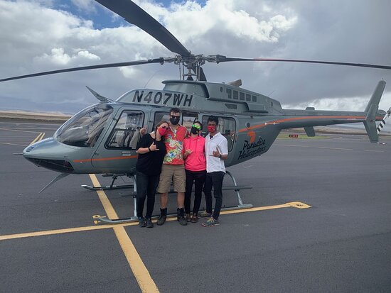 Doors-Off Hawaii Helicopter Tour of Kohala Valleys and Waterfalls: Elated after the flight!