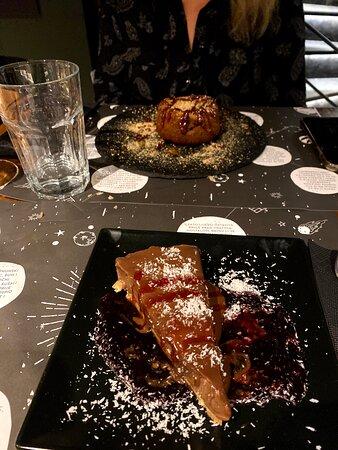 Nutella Cheesecake, lava cake