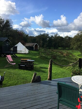Crosswell, UK: View from Shepherd's Hut