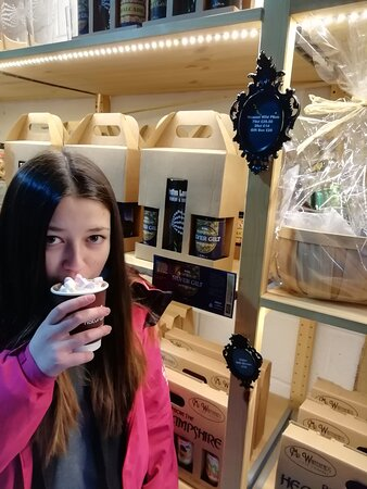 Yummy Hot Chocolate with Cream and Marshmallows - great to keep you warm when you are chosing a Christmas Tree and Burcot Farm where the brewery is based.