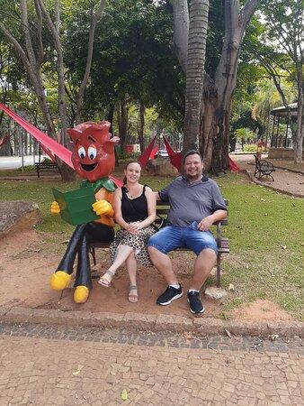 Holambra, SP: Praça dos Coqueiros