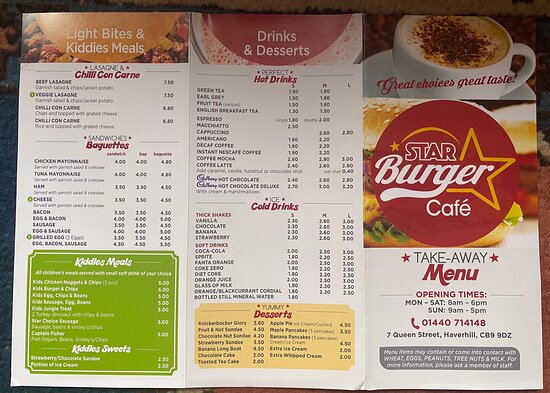 New menu's