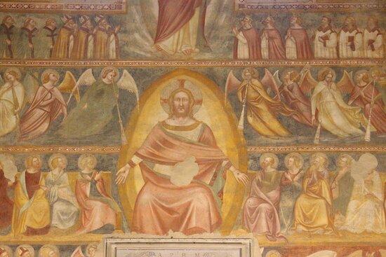 Cristo con Angeli e Santi