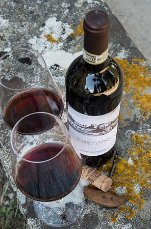 San Donato in Collina, Italia: It's the weekend, so why not pour a glass of red from Torre a Cona!  Here's to 2021 when we can head back to Italy......and play tennis in Florence! https://www.tuscantennis.com/florence-accommodation.html