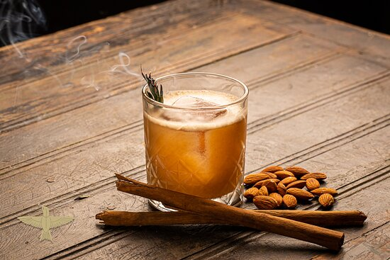 Paradise: A velvety smooth blend of Costa Raicilla, homemade Orgeat, toasted pineapple juice, lemon juice, cinnamon and a dash of simple syrup.